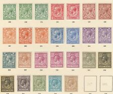 GB GV SG351-395 - 26 stamps incl shades -Mounted mint