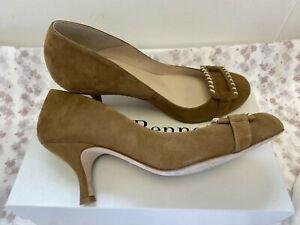 LK Bennett UK6 Eur39 US8 caramel suede Perla2 shoes showing very little wear