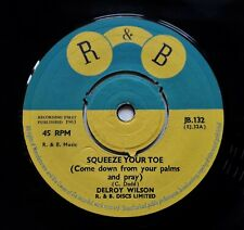 """Delroy Wilson - Squeeze Your Toe / Dimples - Sugar Pie 7"""" Single 1964 1st UK R&B"""