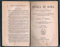 1875 - Storia di Roma - Carta geografica f.t.