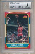 MICHAEL JORDAN 1986/87 FLEER #57 RC ROOKIE CARD CHICAGO BULLS BGS 9 MINT