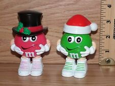 Mars Pink & Green M&M Minis Empty Candy Containers w/ Hats / Lids **READ**
