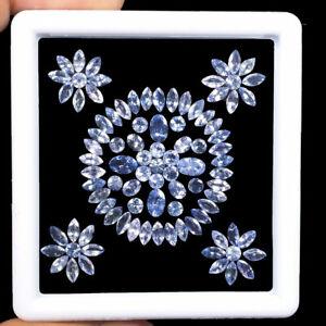 93 Pcs Natural Tanzanite 3mm-5.75mm Mix Cut Sparkling Violet Blue Lot Gemstones