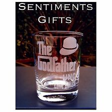 Engraved Personalised Godfather Tumbler Glass - Christening Gift - New