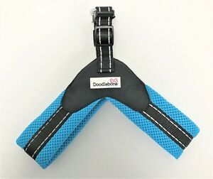 Doodlebone Boomerang Soft Padded Easy Fit Breathable, Reflective Dog Harness