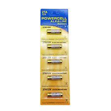 5 pc 27A 12V Alkaline Battery MN27 A27 L828 V27GA Single Use Toy Alarm