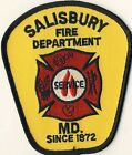 """Salisbury Fire Department MD Maryland 4.5"""" Shoulder Patch"""