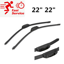 "2 * Pair Front Windscreen Wiper Blades 22""/22"" High Quality"