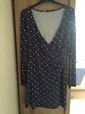 V-Neck Casual Geometric Wrap Dresses