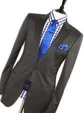 BNWT MENS GIEVES & HAWKES SAVILE ROW STRIPEY CHARCOAL SARTORIAL SUIT 42L W36