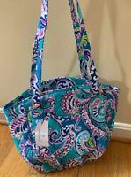 Vera Bradley Waikiki Paisley Glenna Shoulder Bag Tote Purse Blue NWT NEW