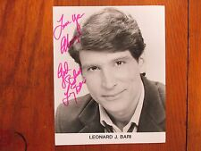 "LENNY  BARI (""Jeremy/Skatetown, USA/Fish"") Signed  8 X 10  Glossy  B & W  Photo"