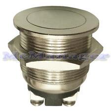 Tapa Plana de Metal a prueba de vandalismo momentáneo interruptor de botón 2 A 250 V Off - (el)