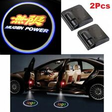 2Pcs Mugen Wireless Car Door Welcome LED Shadow Lights Courtesy Projector Ghost