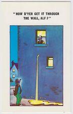 SAUCY POSTCARD - seaside comic, drunk man toilet humour urinate pipe TROW #C721