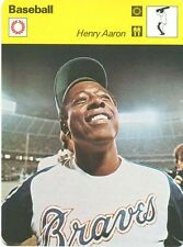HENRY AARON 1977 Sportscaster PROMO CARD #03 993 06  ATLANTA BRAVES