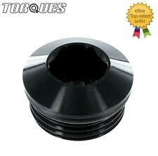 """AN -10 (-10AN ORB-10 7/8"""" UNF) Round Head Port Plug with O ring in Black"""
