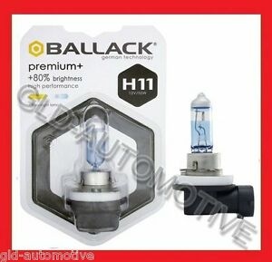 Lampadina Fari Premium H11 Bianco + 80% luce - H11 12V 55W  BALLACK  Fendinebbia