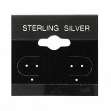 200 Jewelry Earring Display Cards Sterling Silver  Black Flocked   1.5 X 1.5""