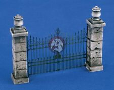 Verlinden 1/35 Park Gate (complements 1874 Park Wall) [Resin + PE Diorama] 1875