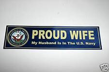 US NAVY Proud WIFE Decal Bumper Sticker United States