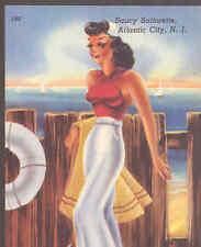 "BEACH GIRL,""SAUCY SAILORETTE"" ATLANTIC CITY POSTCARD"
