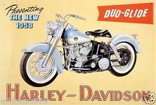 Harley Davidson Motorrad Biker Garage Schild Blechschild 41x28 cm Metallschild