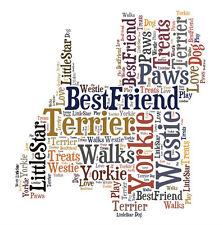 Personalised Small Dog Terrier Westie Word Art Print Great Gift Friend Mum Dad