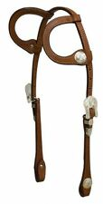 Showman Medium Oil Argentina Leather Silver Horse Show Bridle Headstall Reins
