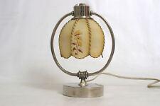 Art Deco Bauhaus Tischlampe vernickelt pat. ang. Wien 20er 30er Celluloidschirm