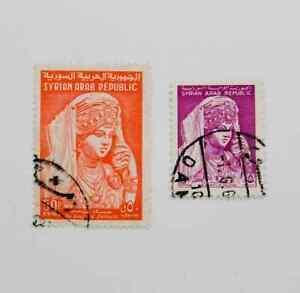 Syria 1961-65 5 & 50p The Beauty Of Palmyra used 2v C19