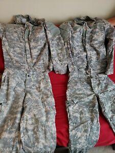 Lot of 2 Army Issue Pant/Shirt Sets ACU Digital Combat Uniform Size Med- Reg
