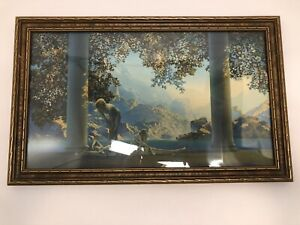 "Maxfield Parrish Framed Lithograph Print ""Daybreak"" The House of Art N.Y., Nice!"