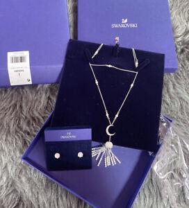 Swarovski Movement Rhodium-Plated White Crystal Jewelry Set 5409484