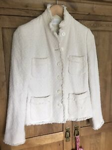 Principles Petite Collection Gorgeous Lined Cream Boucle Jacket Size 10