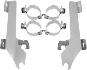 Memphis Shades Trigger-Lock Mount Kit for Batwing Fairing Polished Honda VTX1800
