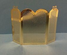 Dollhouse Miniature Traditional Brass Fireplace Screen Handley Classics 1:12