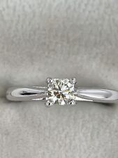 18ct White Gold Diamond Cushion Cut Solitaire Ring Very Sparkly VS2 0.34 Carat