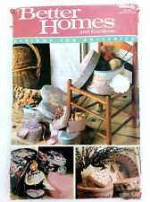 Vintage Sewing Pattern Crafts Hat Boxes Uncut 1980s Butterick Better Homes PA167
