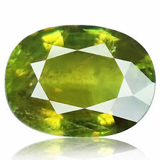 4.32ct 100% Natural earth mined rare aaa multi color sphene/titanite from russia