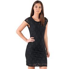 Womens Vero Moda Womens Lilly Lace Dress in Black - 12