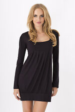Gorgeous Women's Mini Dress Square Neck Tunic Long Sleeve Sizes 8 -18 2534