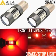 Alla Lighting 1156 54-LED Brake Tail Center High Mount Stop Light Bulb Lamp, RED