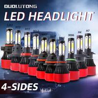 Car LED Headlight Bulbs 4 Sides 9004 9005 9006 9007 9012 5202 H4 H7 H11 H13 Lamp