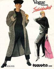 80's VTG VOGUE American Designer Coat,Top&Pants Tamotsu Pattern 1440 16