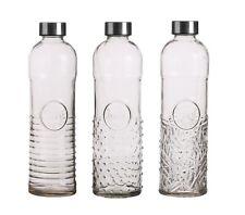 Glass Beverage Water Bottle 1Litre Vintage Airtight Preserve Fridge Screw Cap