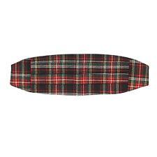 Stewart Tartan Wool Cummerbund Black Red Green Plaid Pleats S/M After Six 28-36