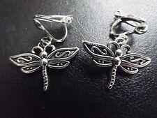 Dragonfly Clip On Earrings