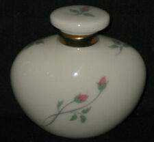 Small Rose Manor Lenox Perfume Bottle with Stopper Flower Bud Design