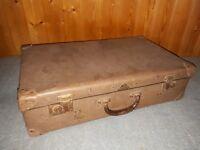 alter Koffer Reisekoffer, VEB Kindelbrück, Vulkanfibre